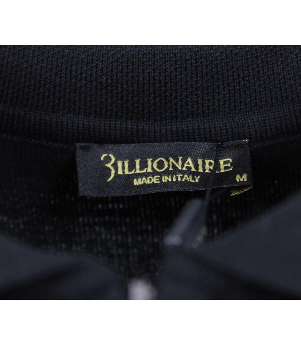 Черное поло с длинным рукавом Billionaire 6735