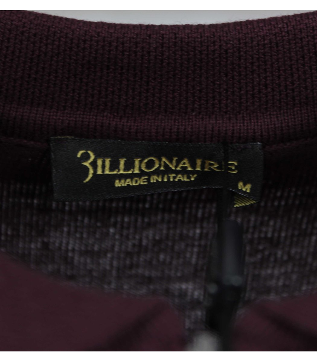 Бордовое поло с длинным рукавом Billionaire 6735