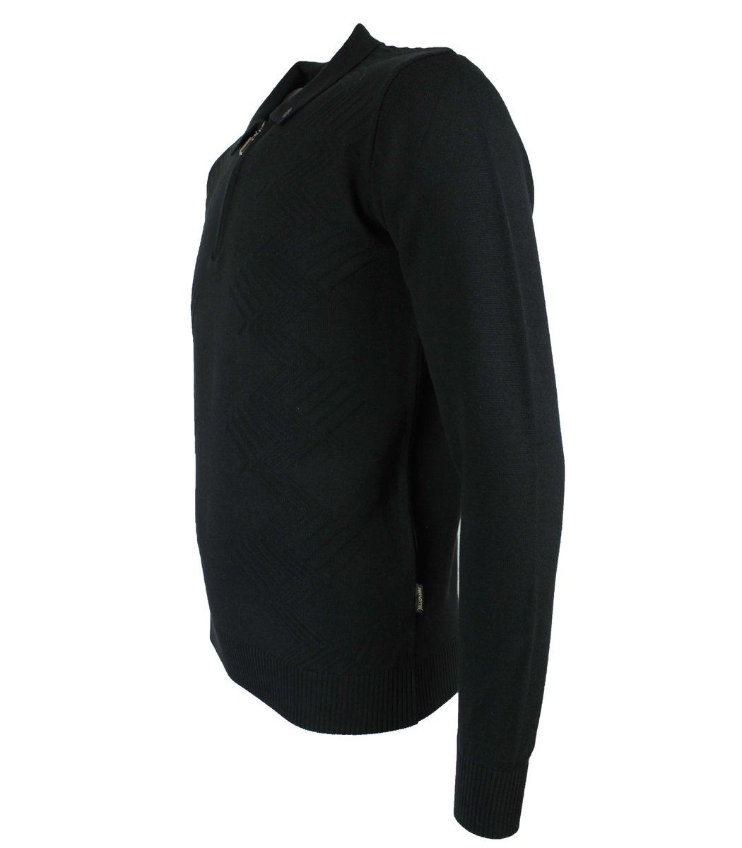 Черное поло с длинным рукавом Billionaire 6547