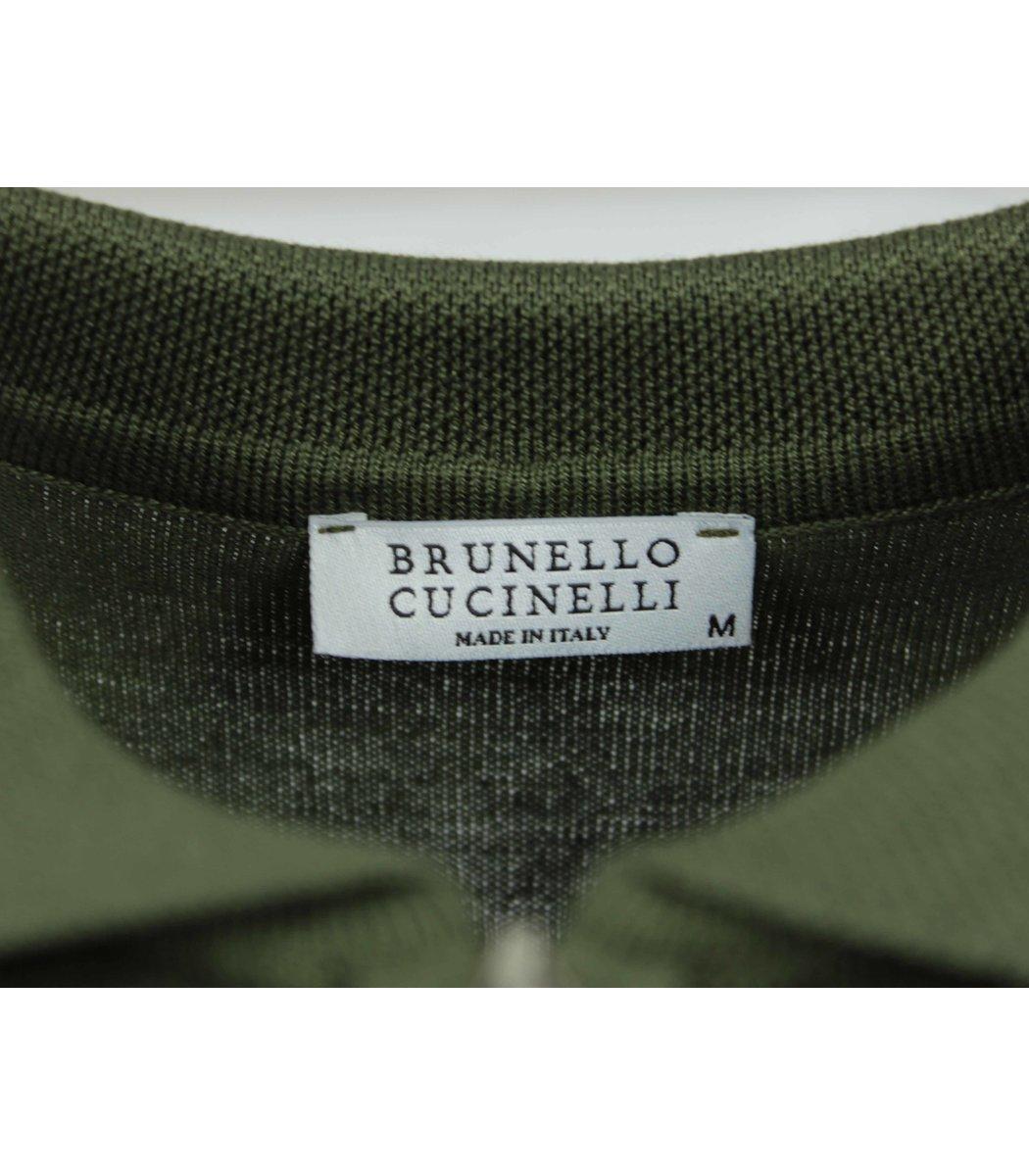 Хаки поло Brunello Cucinelli 7270