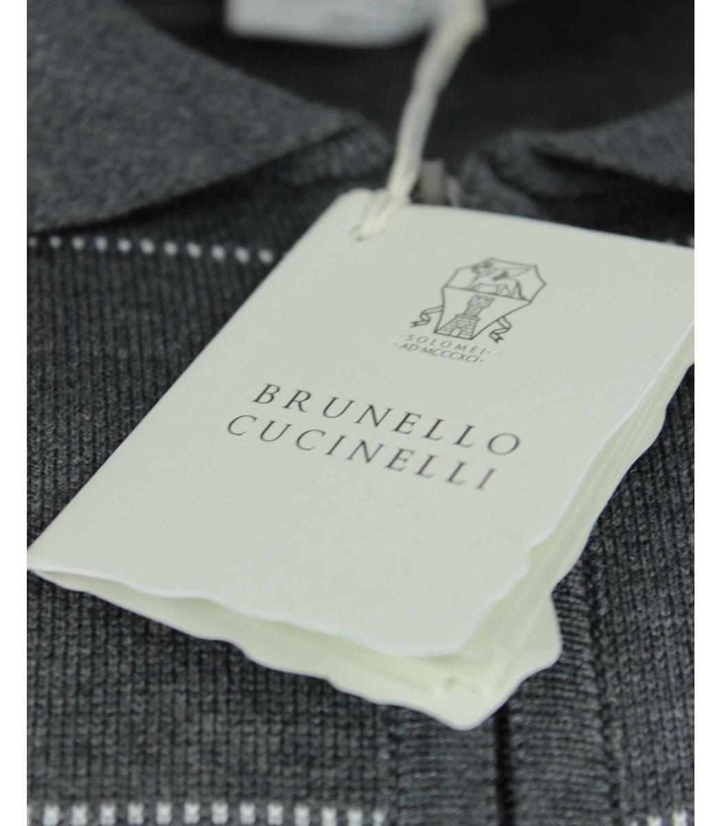 Серое поло Brunello Cucinelli 7270