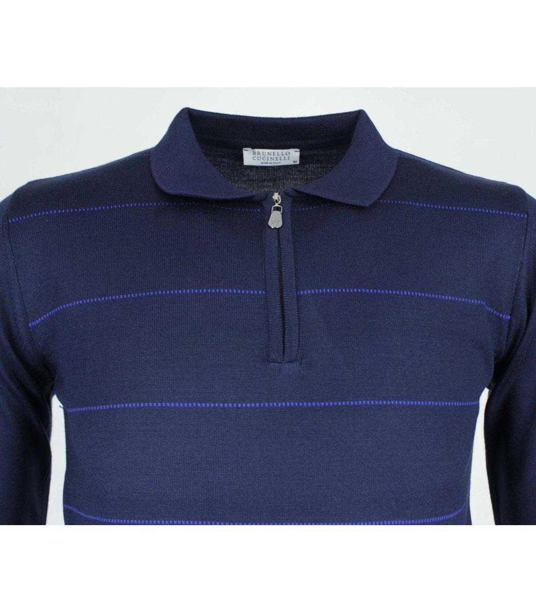 Темно-синее поло Brunello Cucinelli 7270