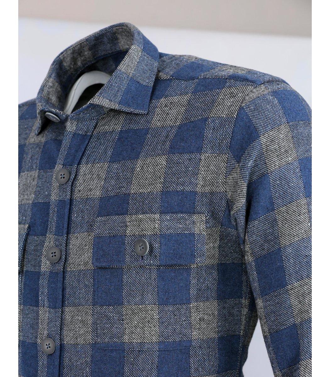 Голубая рубашка в клетку DSQUARED2 RD1