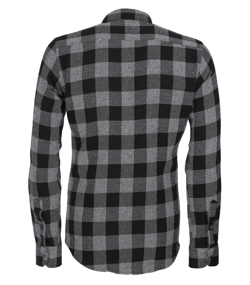 Чёрная рубашка в клетку DSQUARED2 RD1