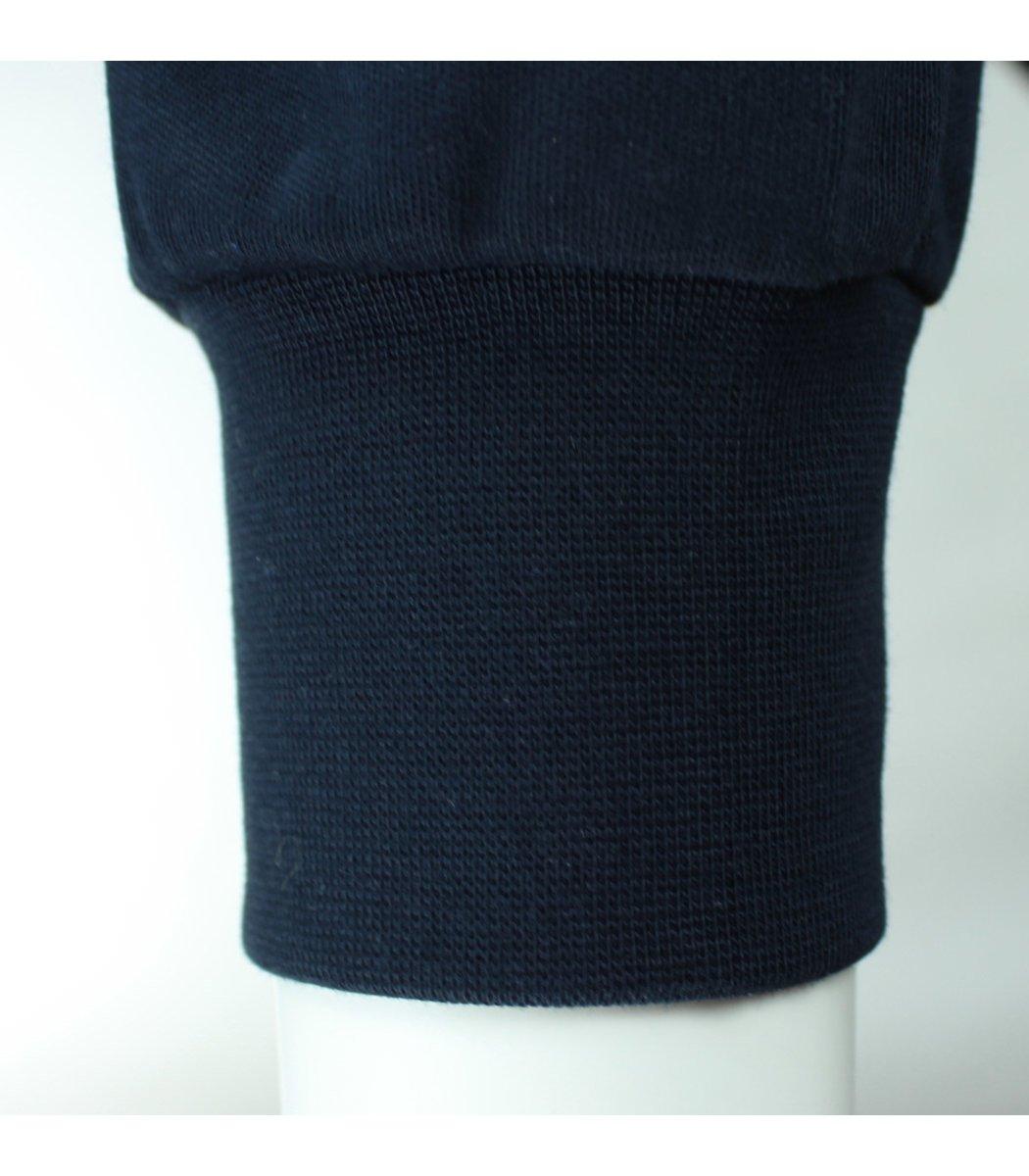 Тёмно-синее поло с длинным рукавом EA7 PA1