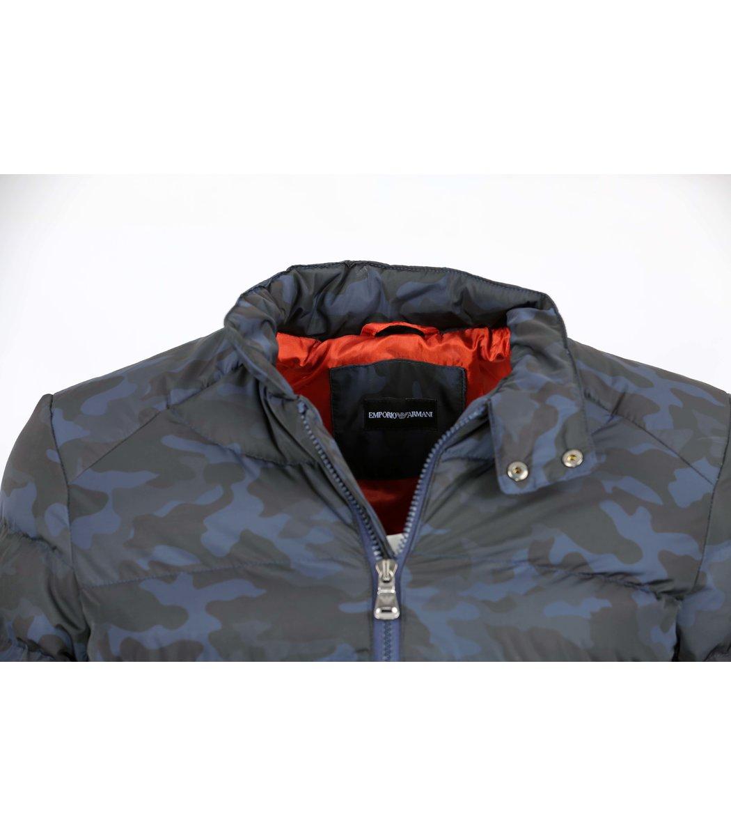 Синяя камуфлированная куртка Emporio Armani KA1