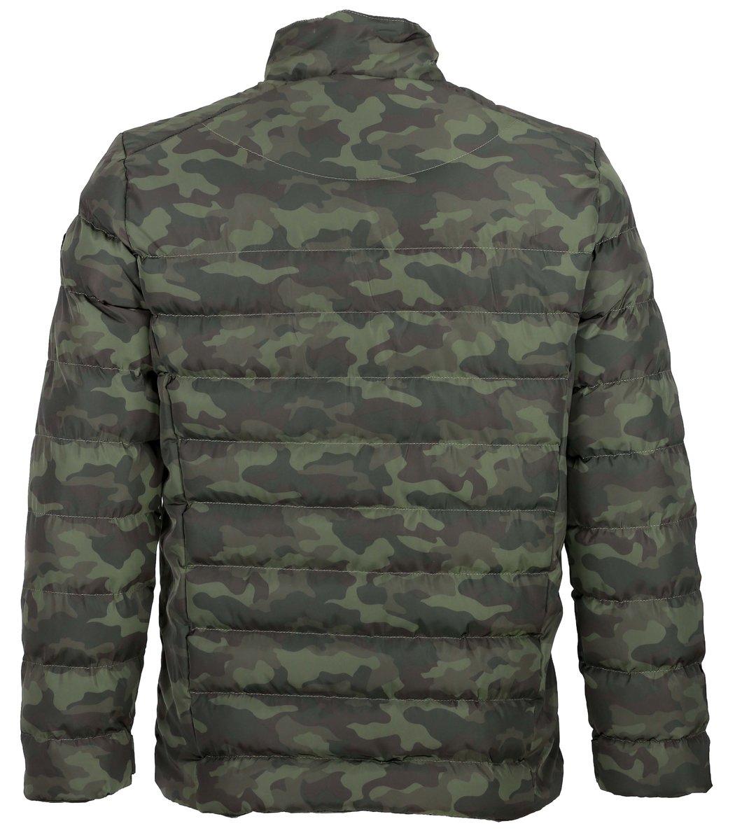 Зелёная камуфлированная куртка Emporio Armani KA1