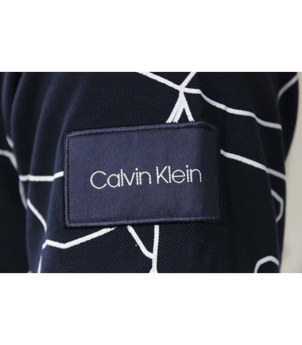 Темно синяя футболка поло Calvin Klein MCK2