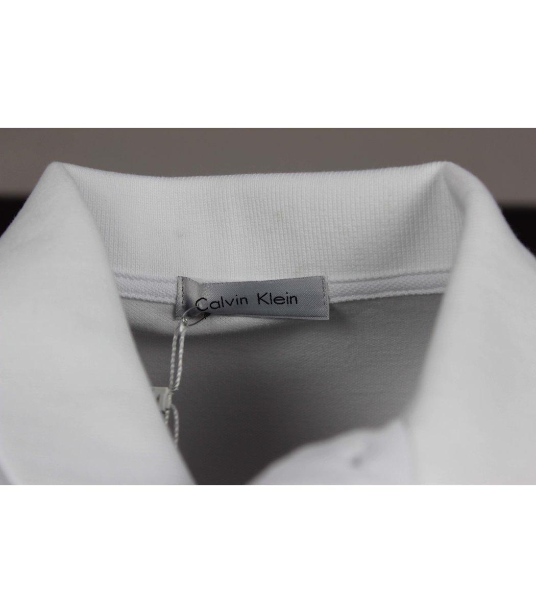 Белая футболка поло Calvin Klein MCK1