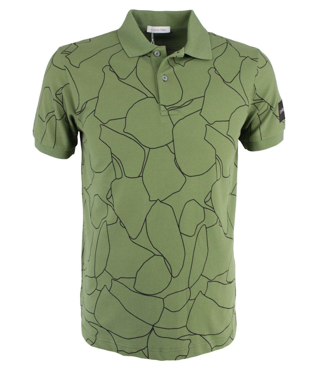 Хаки футболка поло Calvin Klein MCK2
