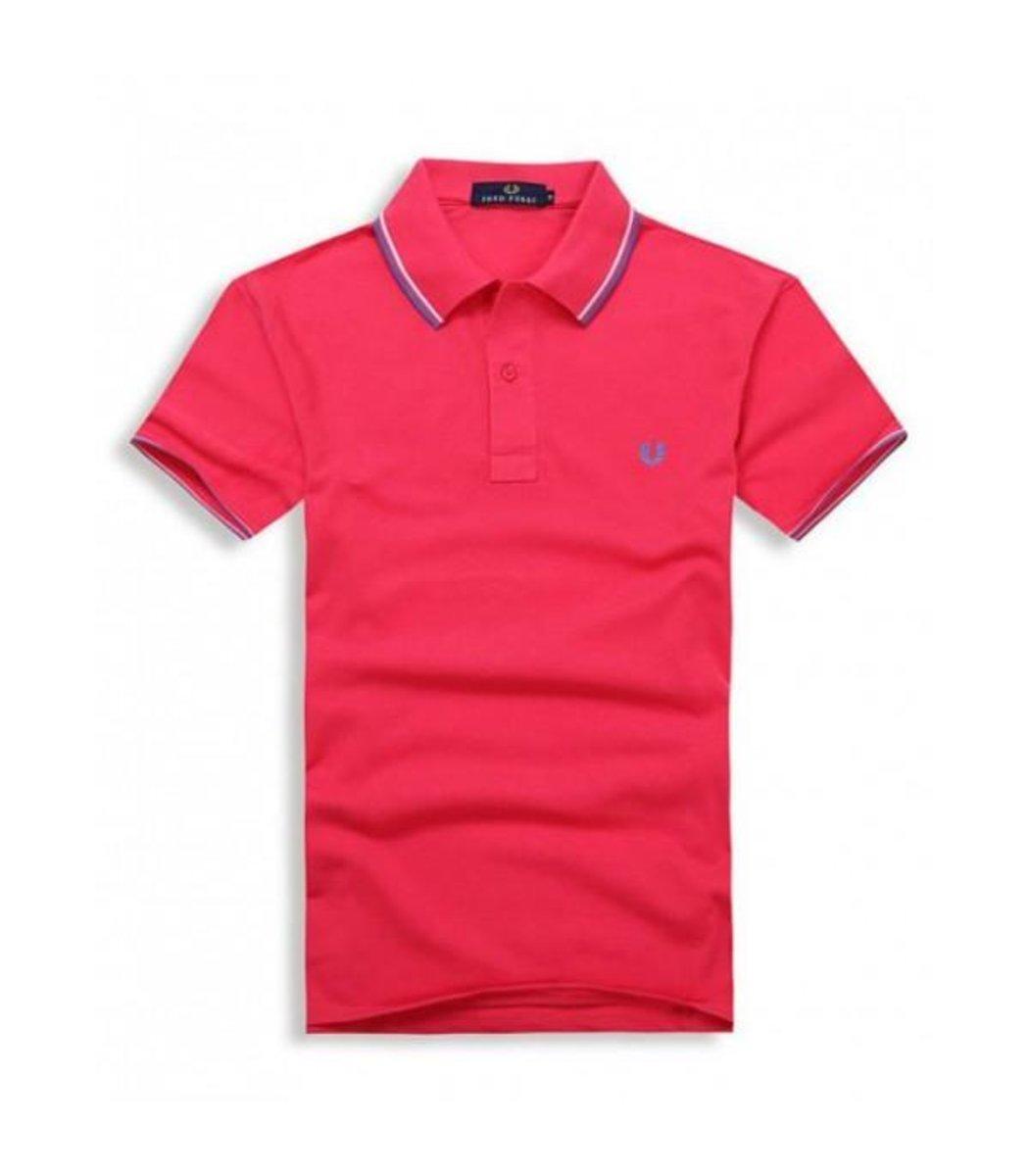 Красная футболка поло Fred Perry - Вид 1