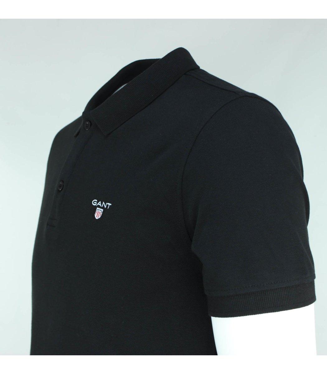 Чёрная классическая футболка поло Gant G2
