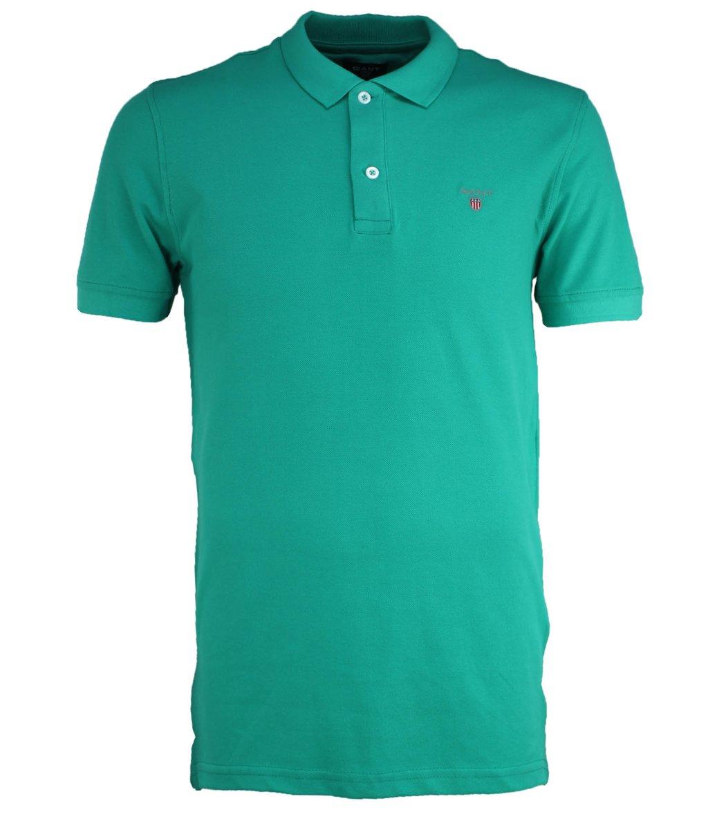 Мятная классическая футболка поло Gant G2