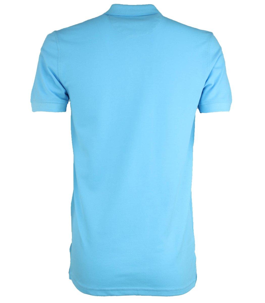 Светло-голубая классическая футболка поло Gant G2