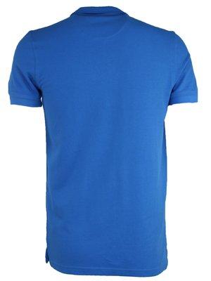 Голубая классическая футболка поло Gant G2