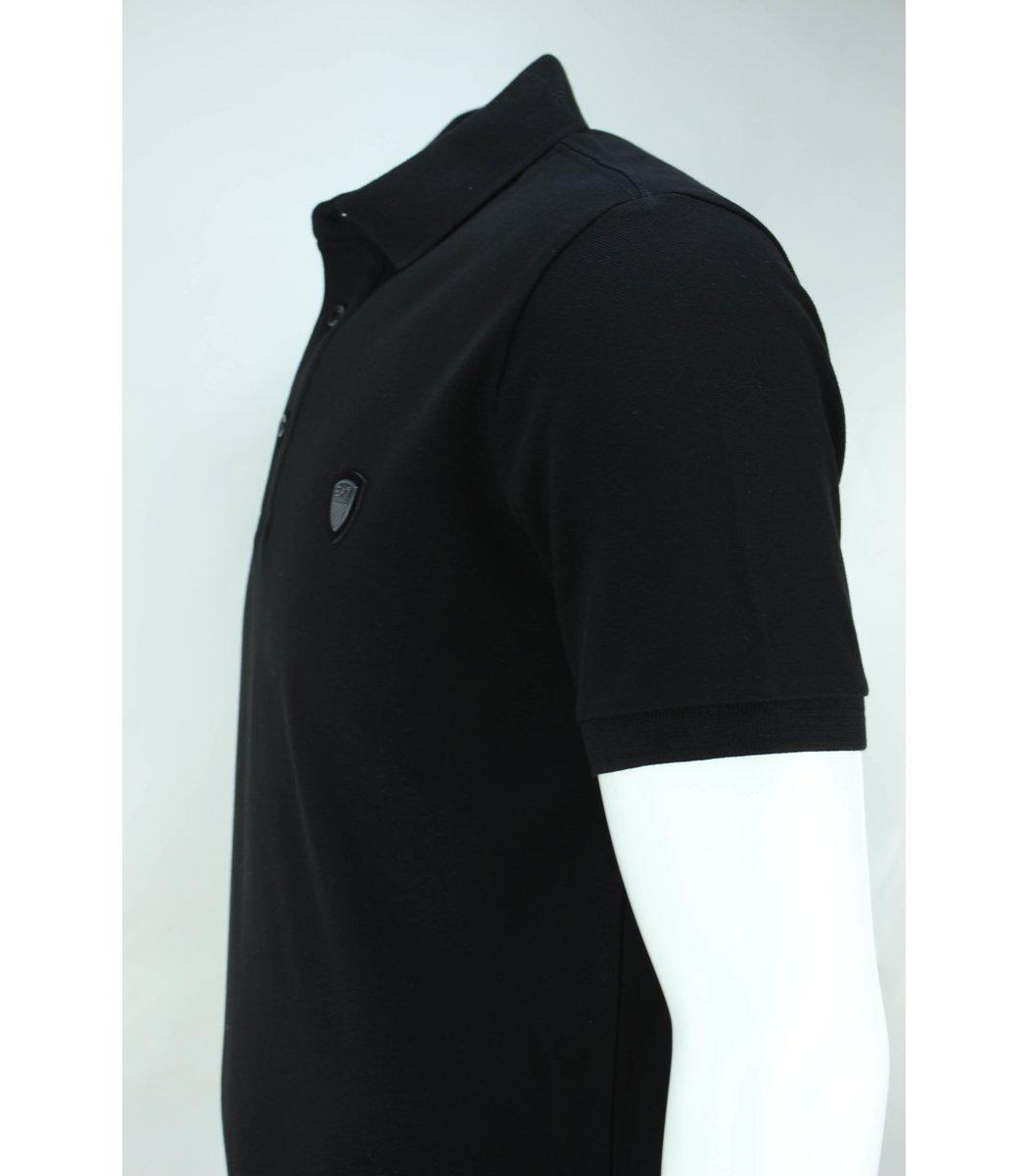 Чёрная футболка поло Giorgio Armani A2
