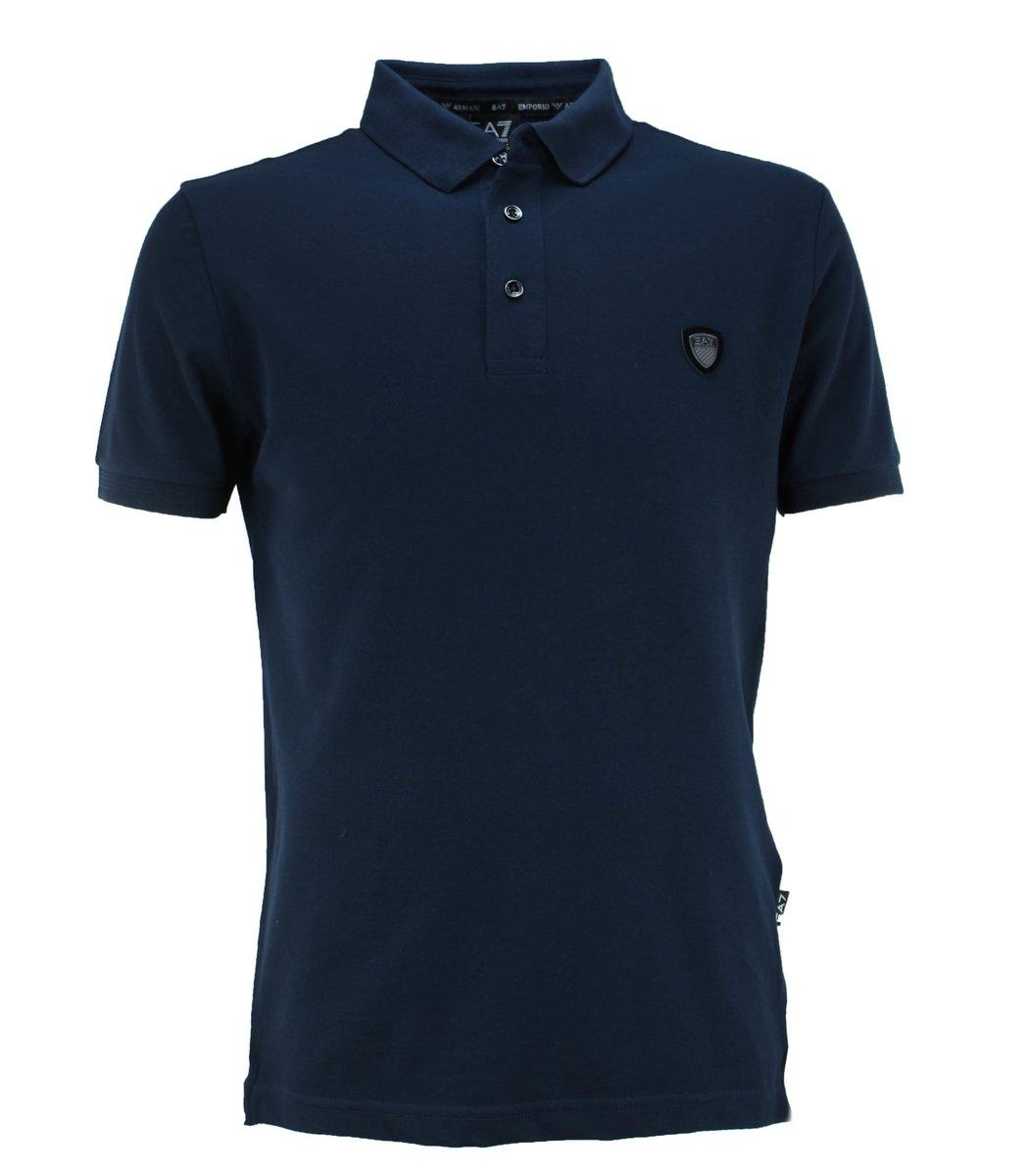 Тёмно-синяя футболка поло Giorgio Armani A2