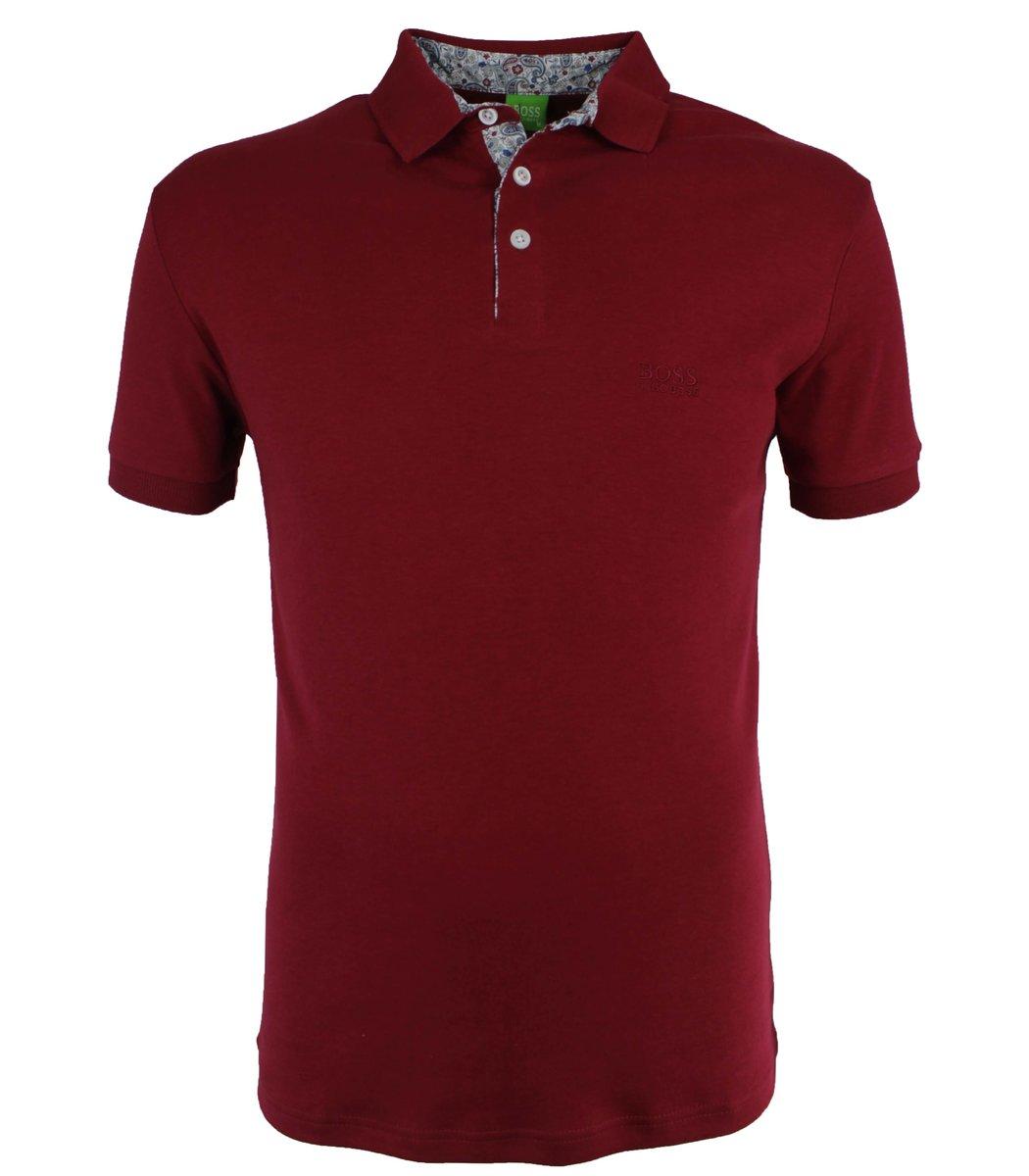 Бордовая футболка поло Hugo Boss MH1