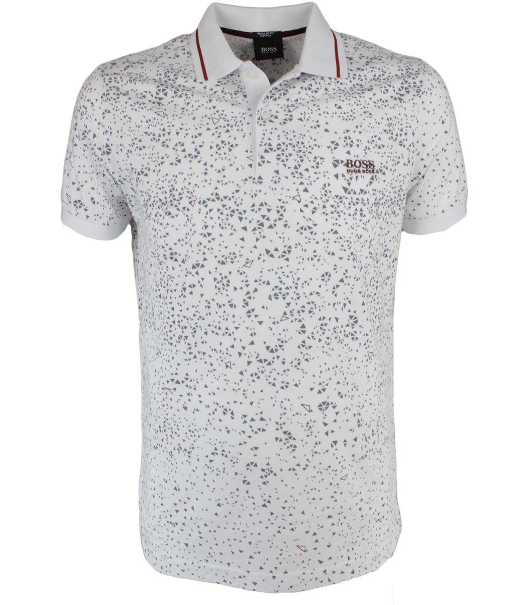 Белая футболка поло Hugo Boss  MH3