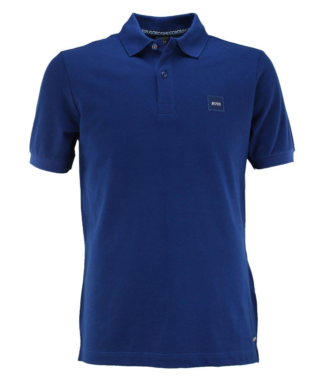 Синяя футболка поло Hugo Boss HB6 (2)