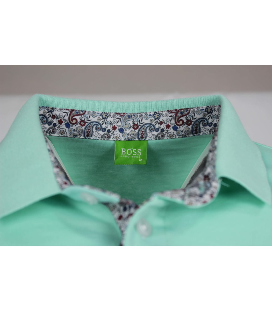 Мятная футболка поло Hugo Boss MH1