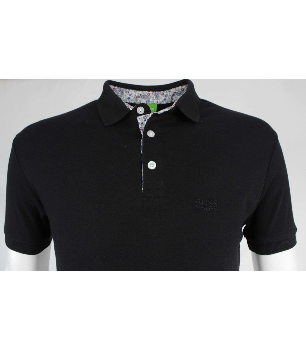 Черная футболка поло Hugo Boss MH1