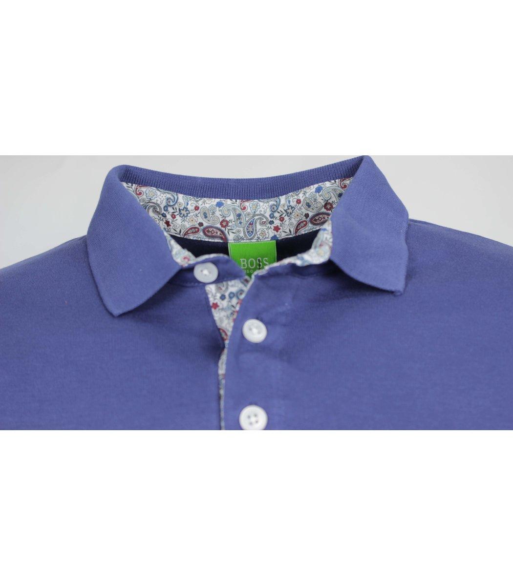 Синяя капри футболка поло Hugo Boss MH1
