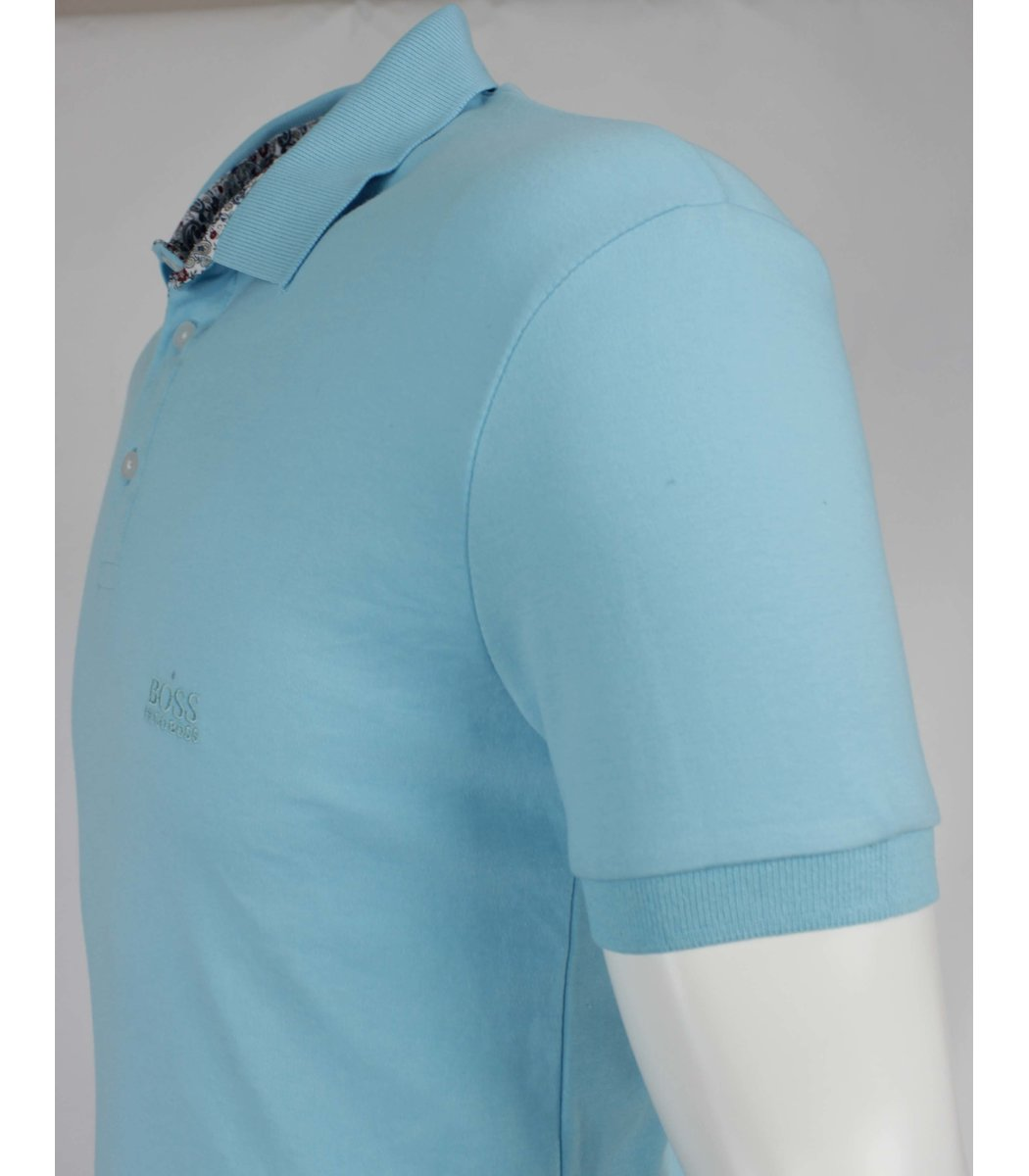 Светло голубая футболка поло Hugo Boss MH1
