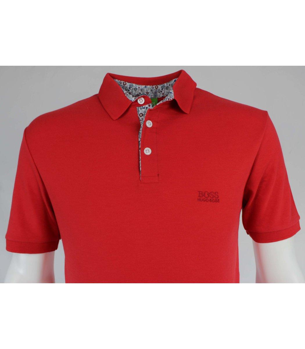 Красная футболка поло Hugo Boss MH1