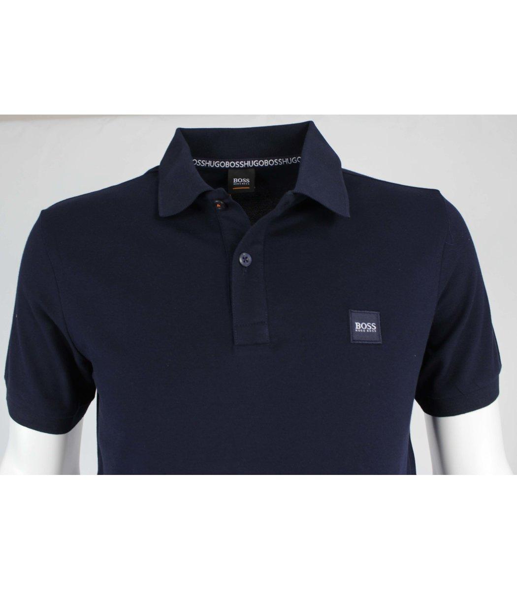 Темно синяя футболка поло Hugo Boss MH2