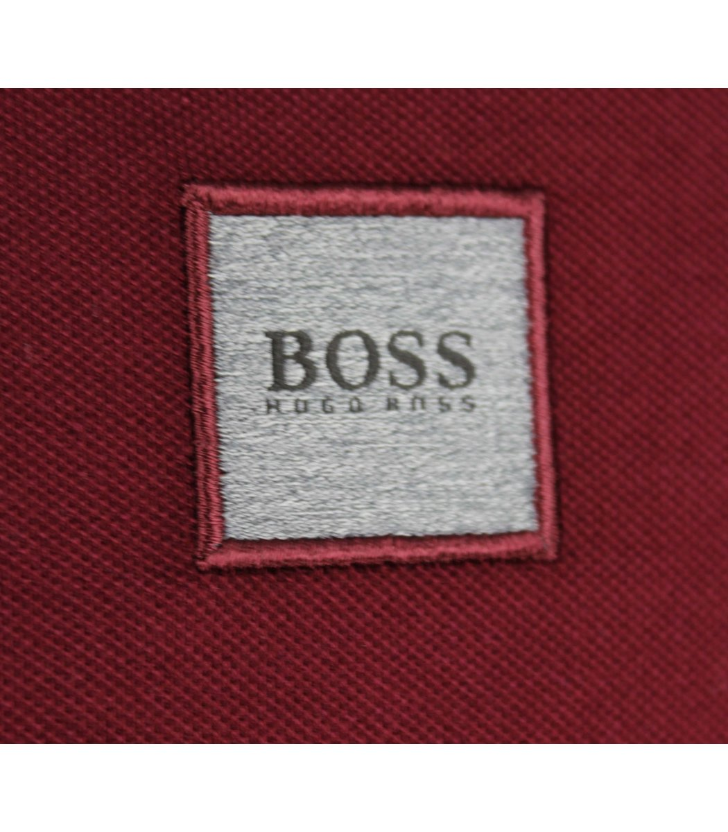 Бордовая футболка поло Hugo Boss MH2