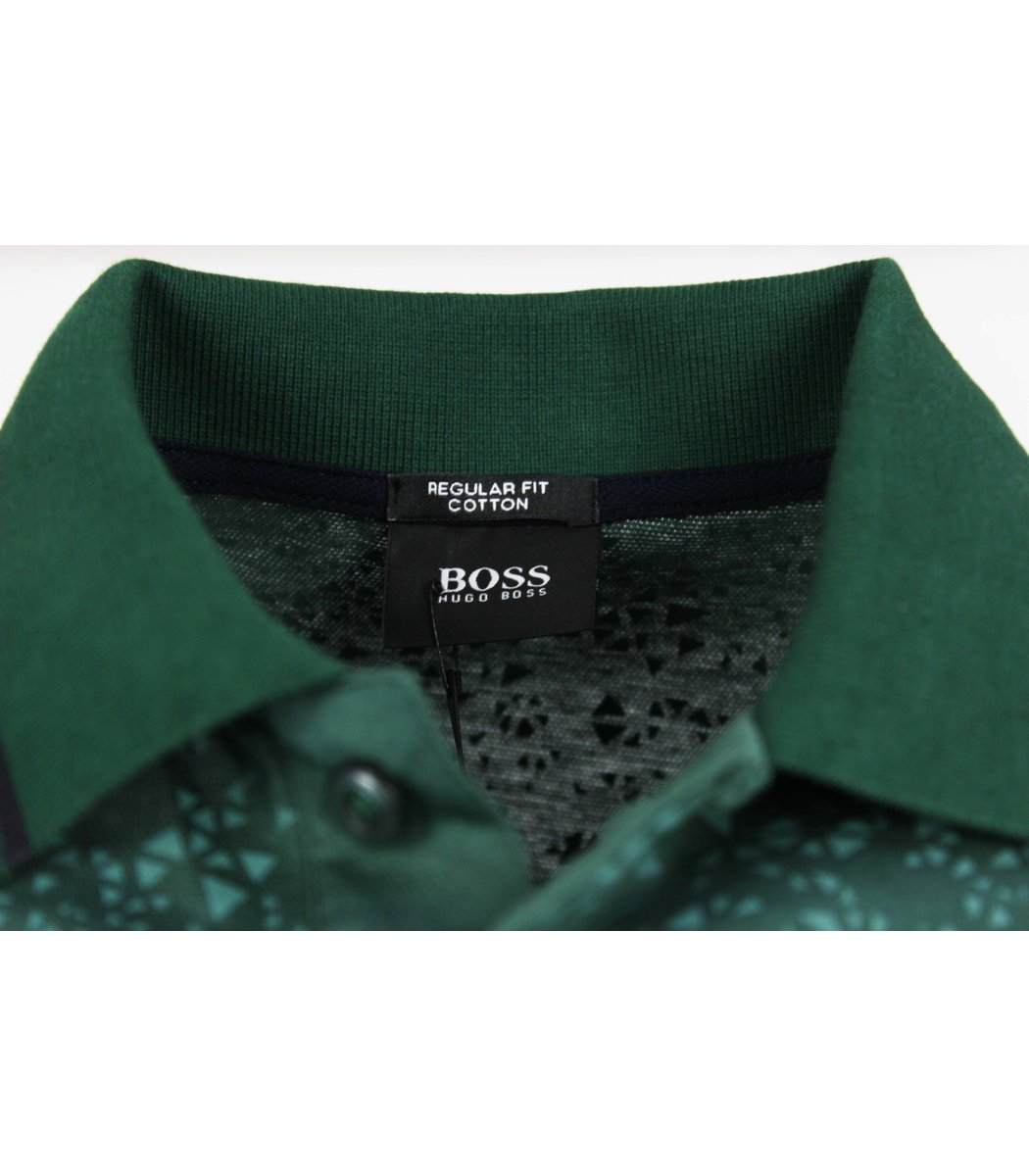 Зеленая футболка поло Hugo Boss  MH3