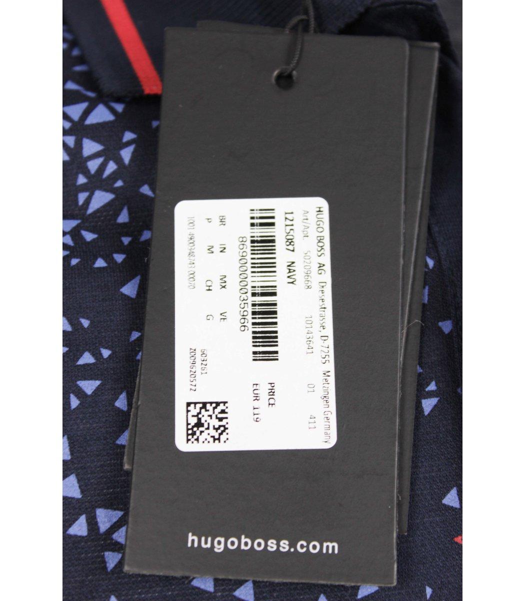 Темно синяя футболка поло Hugo Boss MH3