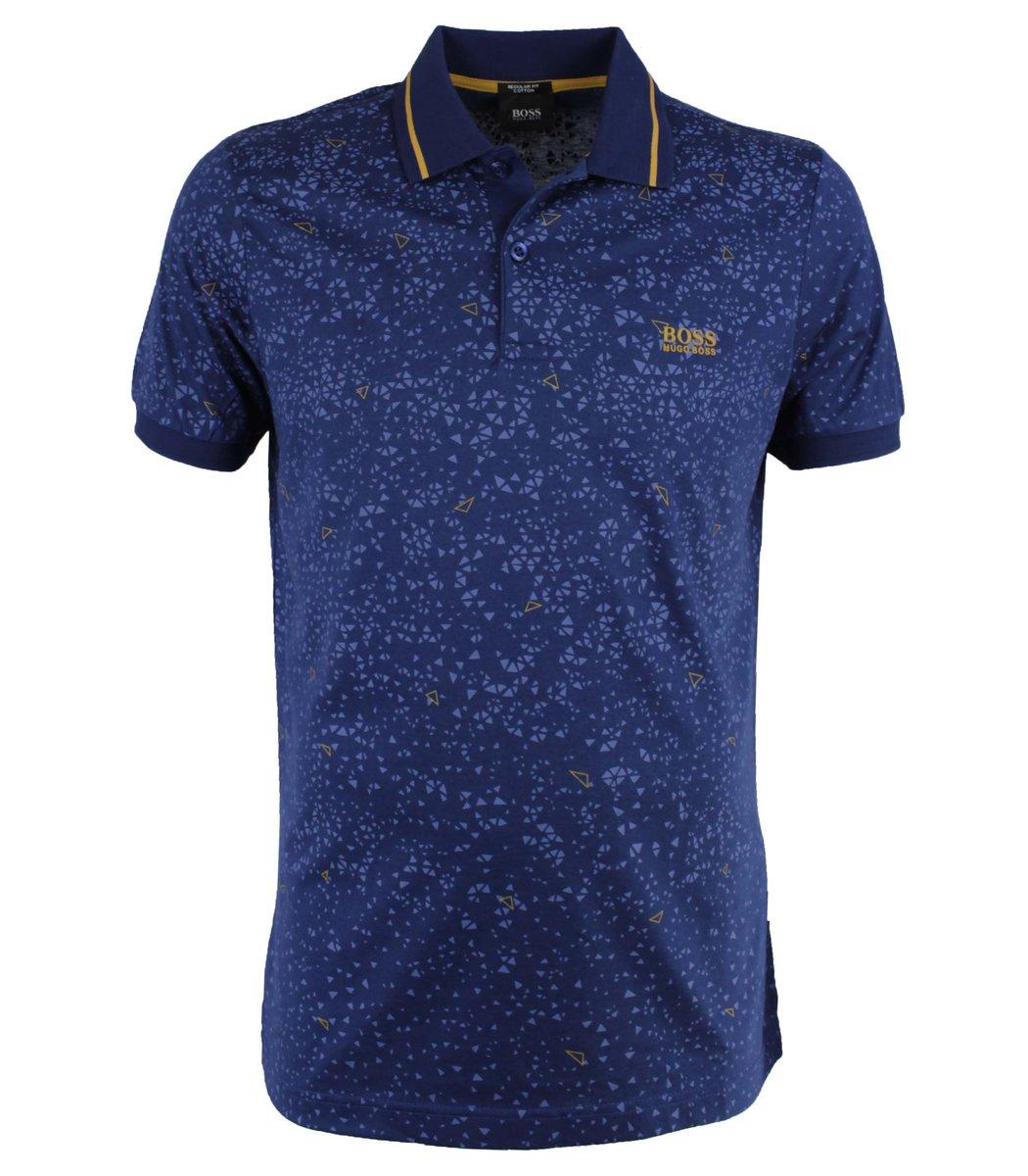 Синяя футболка поло Hugo Boss  MH3