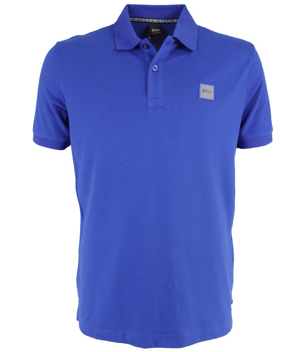 Синяя футболка поло Hugo Boss MH2