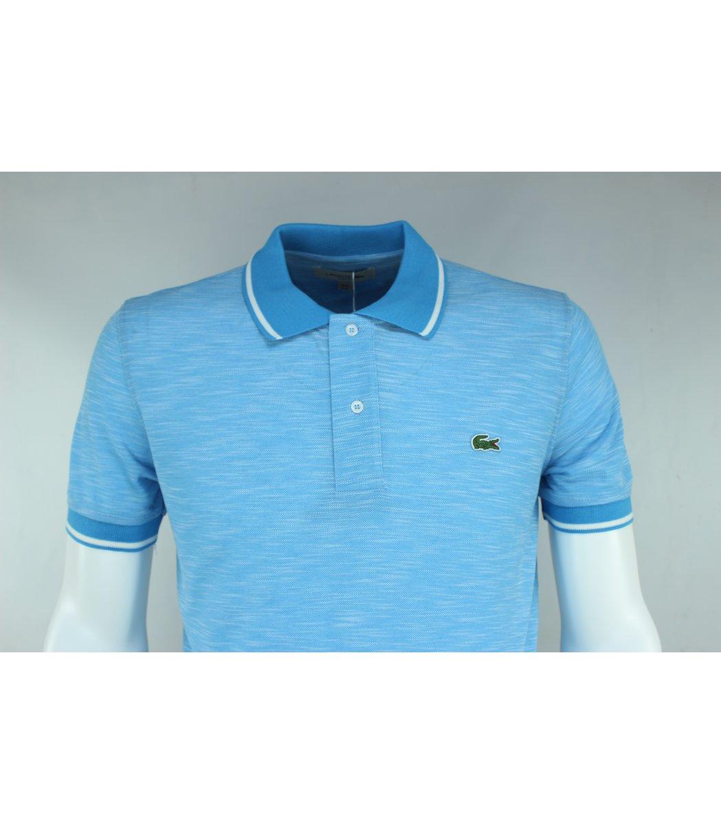 Голубая футболка поло Lacoste L2 -удалить
