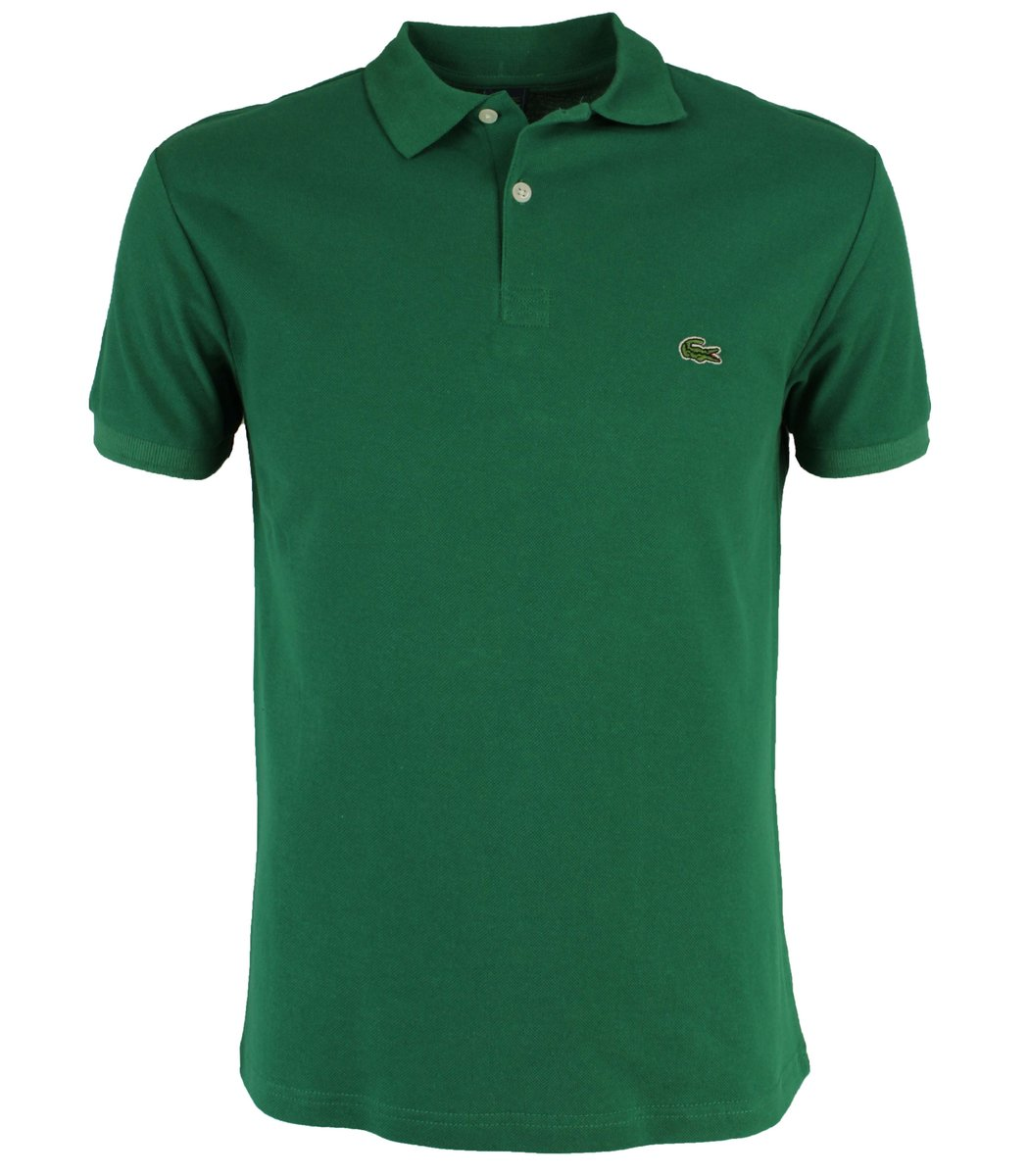 Зеленая  футболка поло Lacoste LC1