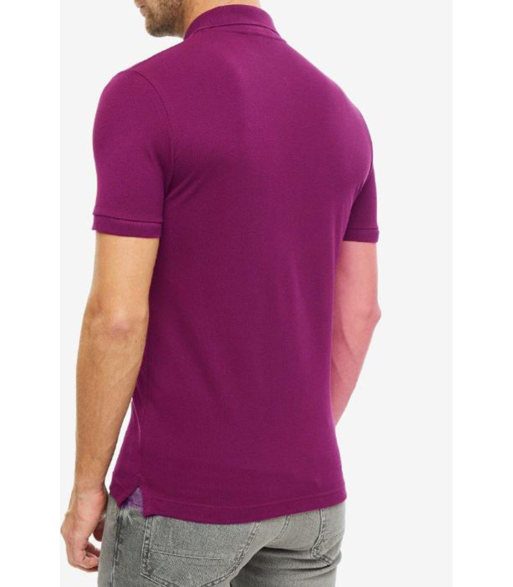 Сливовая футболка поло Lacoste
