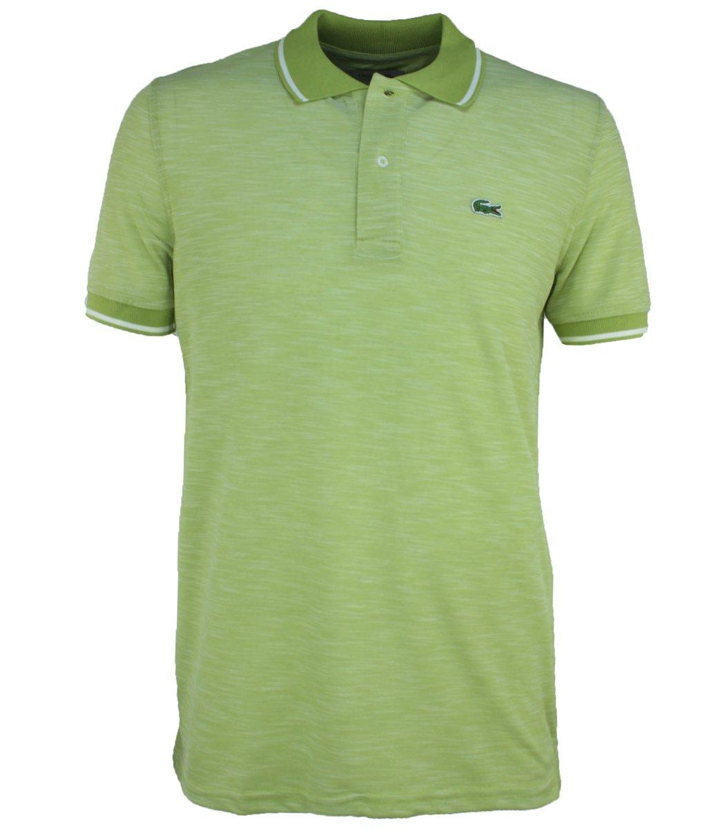 Салатовая футболка поло Lacoste L2