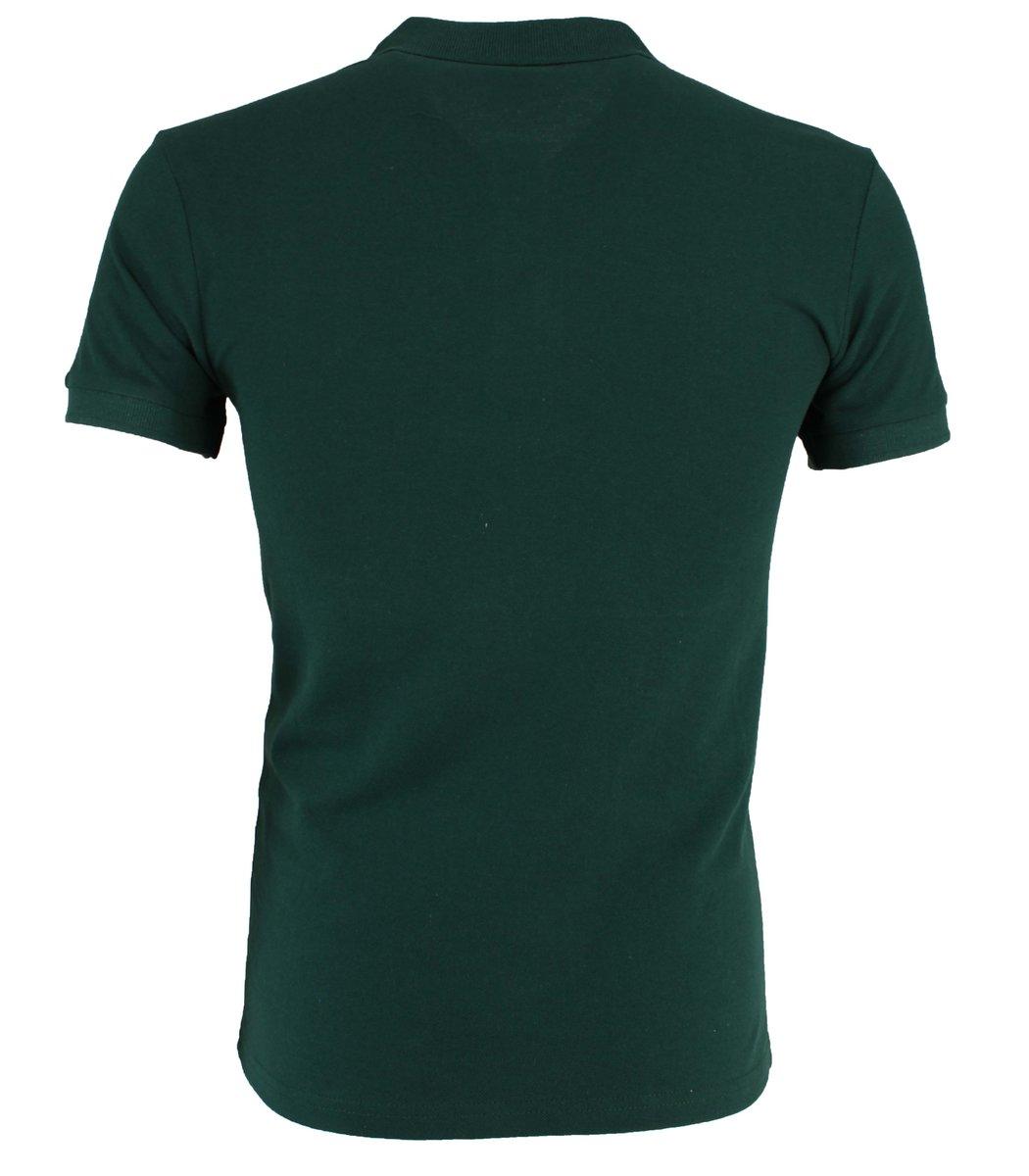 Тёмно-зелёная  футболка поло Lacoste LC1