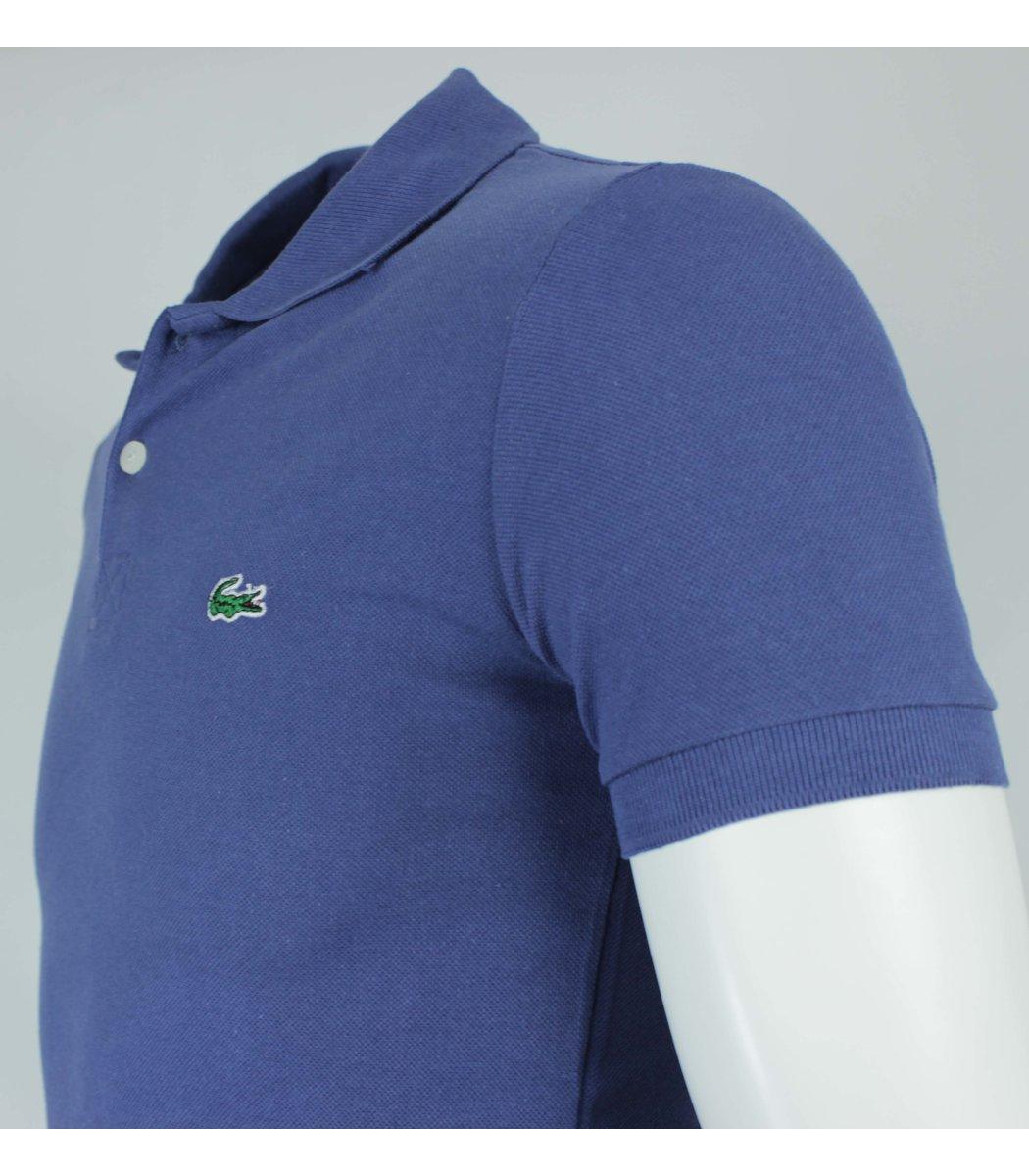 Тёмно-синяя  футболка поло Lacoste LC1