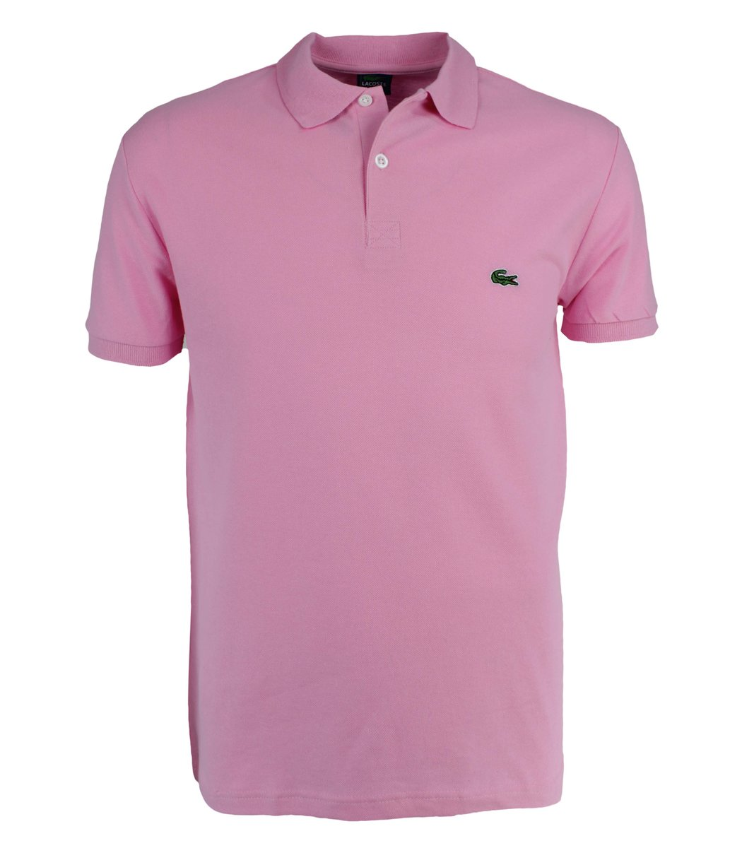 Розовая футболка поло Lacoste LC1