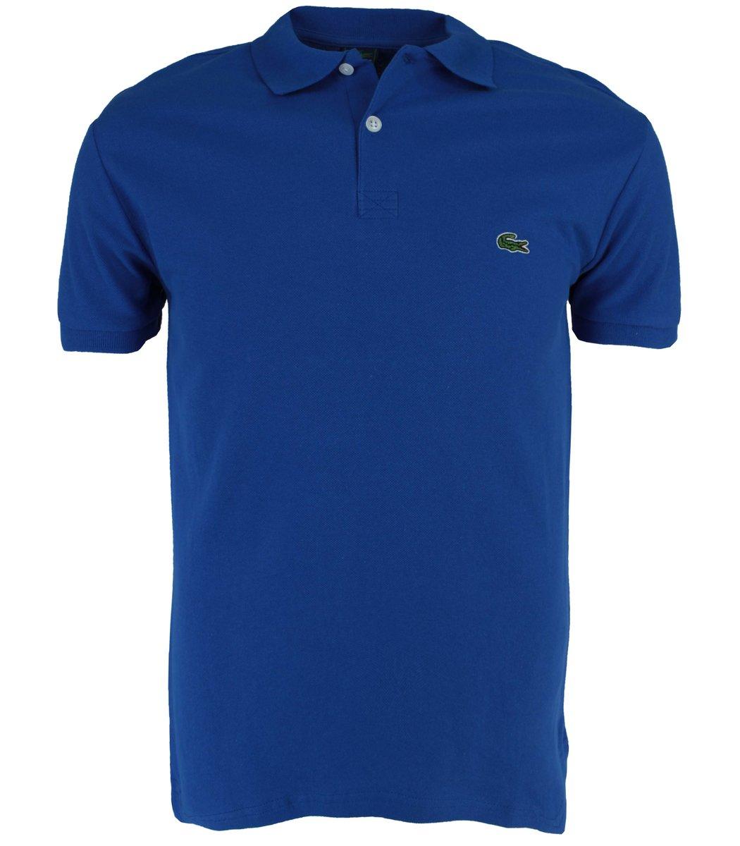 Синяя  футболка поло Lacoste LC1