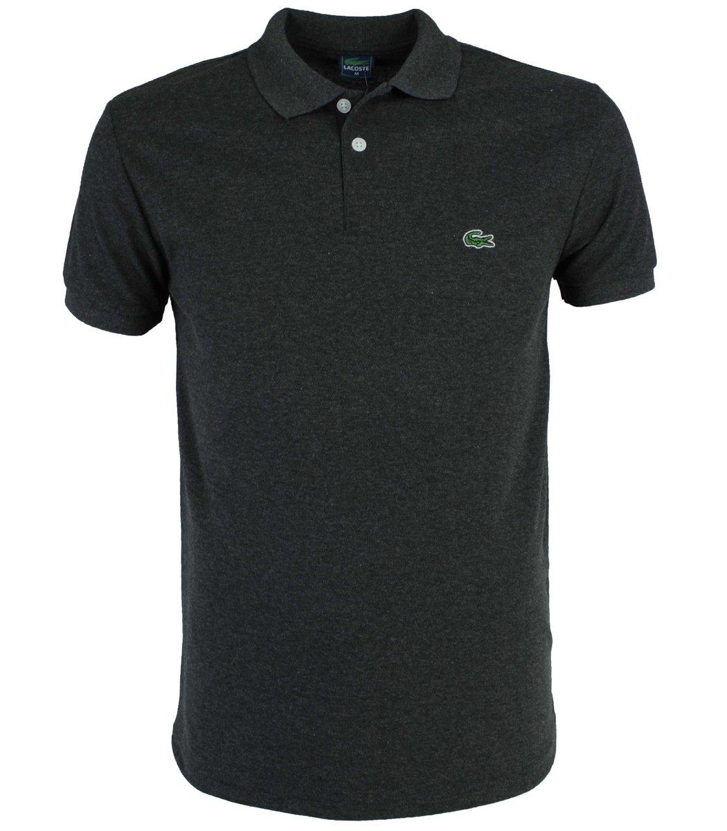 Тёмно-серая  футболка поло Lacoste LC1
