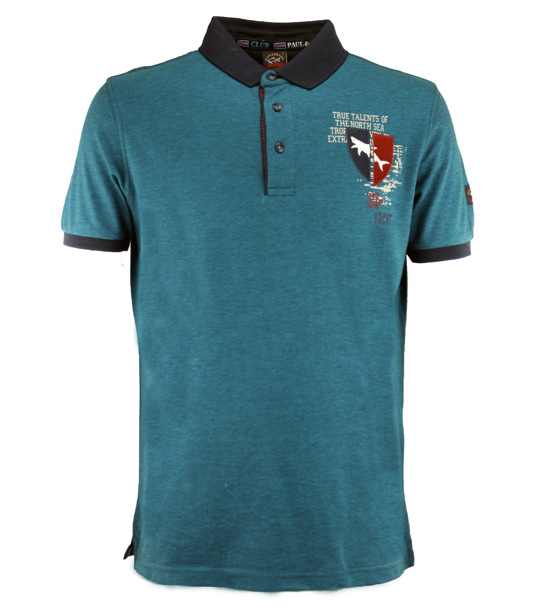 Голубая футболка поло Paul&Shark TP4