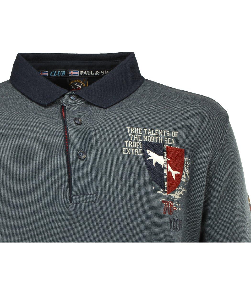 Тёмно-синяя футболка поло Paul&Shark TP4