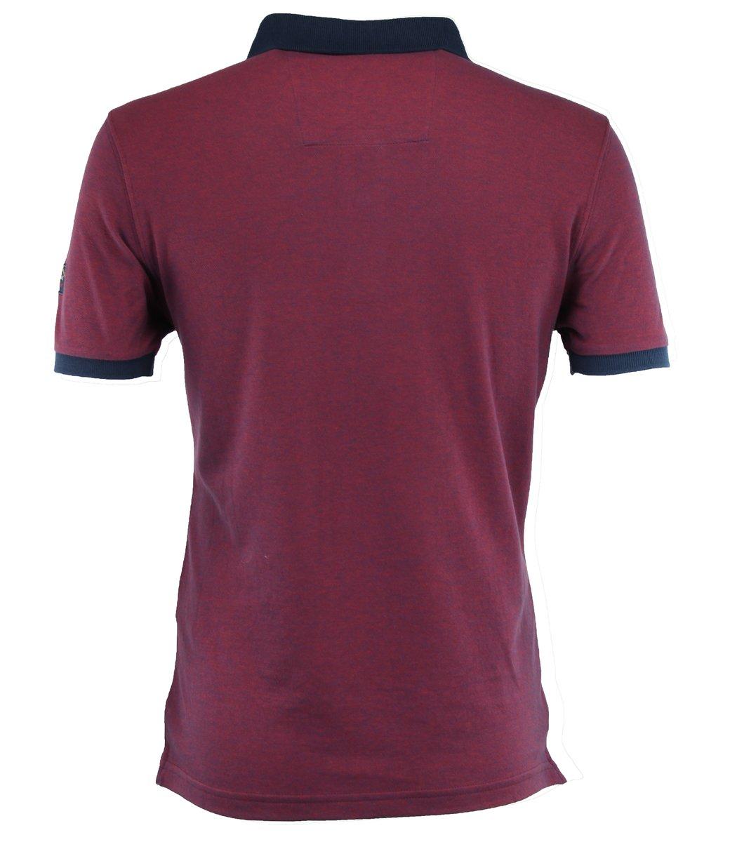 Бордовая футболка поло Paul&Shark TP4