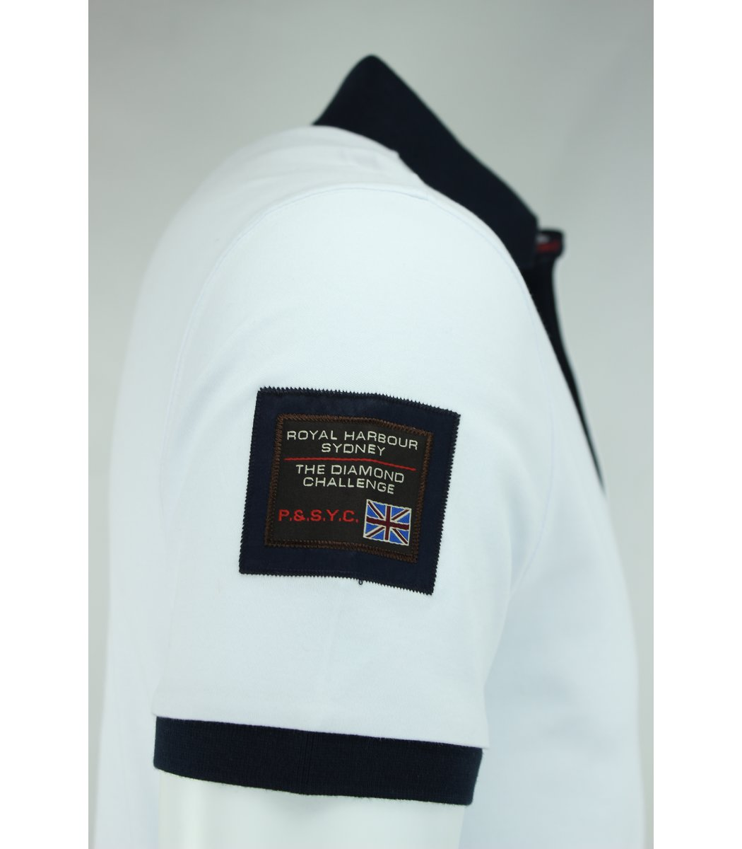 Белая футболка поло Paul&Shark F3