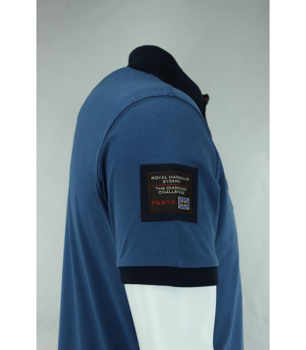 Синяя футболка поло Paul&Shark F3