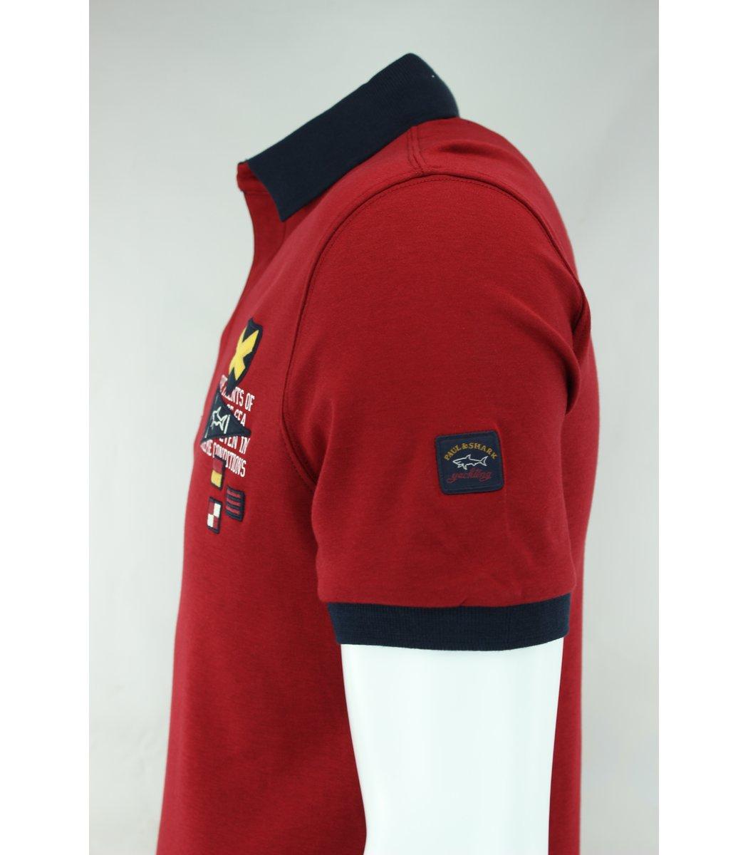 Красная футболка поло Paul&Shark F3